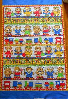 "BonEful Fabric Cotton Quilt Blue Baby Mom Nursing Cover Panel 23X44/"" Boy Blanket"