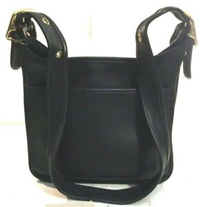 Coach-Purse-Shoulder-Bag-LEGACY-9966-Black-Leather-Brass-Fittings-Vintage