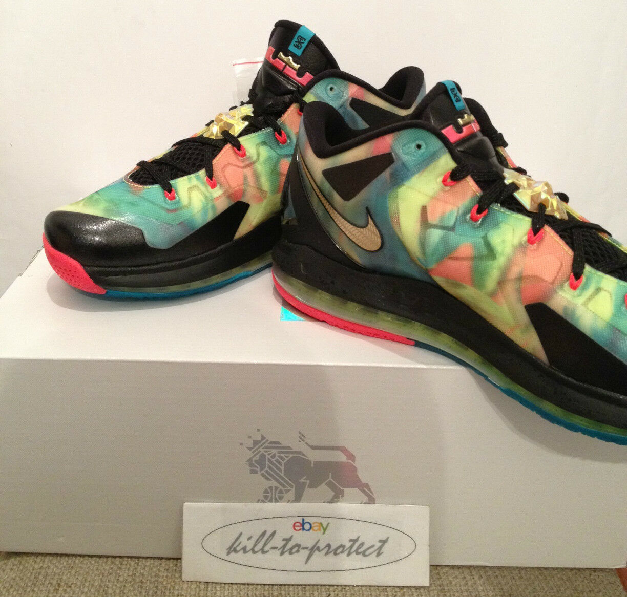 NIKE LEBRON 11 LOW SE SE SE MULTI  US7 UK6 MVP 695224-970 Championship What The 2014 59f04a