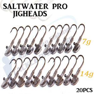 20x-1-2oz-1-4oz-Jig-Heads-Fishing-Lures-Soft-Plastics-Bullet-Nitro-Gulp-Stealth