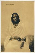 Egypt BLACK WOMAN w NOSE RING / FRAU m NASENRING Ägypten * Vintage 10s Ethnic PC
