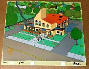 Simpsons-Key-Master-Production-Background-animation-cel-Free-Tibet-Richard-Gere