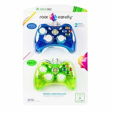 Rock Candy Wired Controller for Xbox 360 - 2 Pack - Brand New! - Factory Sealed!