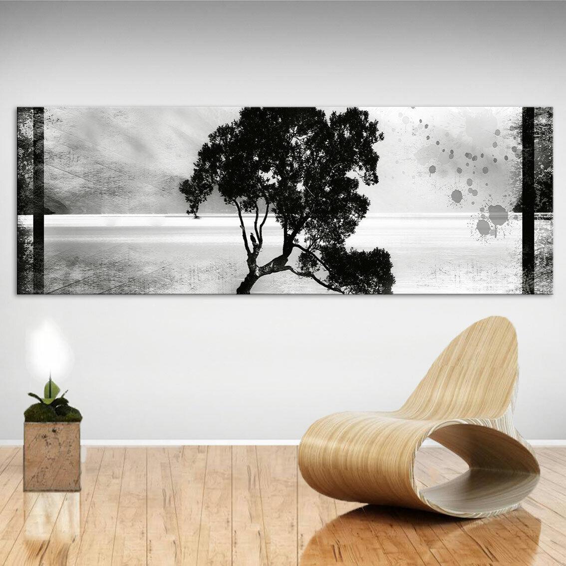 Panorama Bild Bäume Wald Landschaft Leinwand Abstrakte Bilder Wandbilder D2064