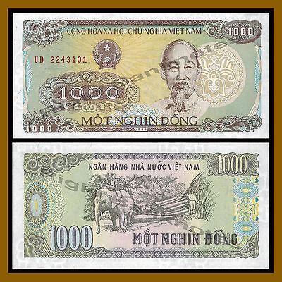VIETNAM 1,000 1000 Dong X 10 PCS 1988 P-106 1//10 Bundle UNC Uncirculated