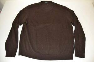 Dark suéter Neck V Brown Crew Xl para talla hombre J 7q5Ox