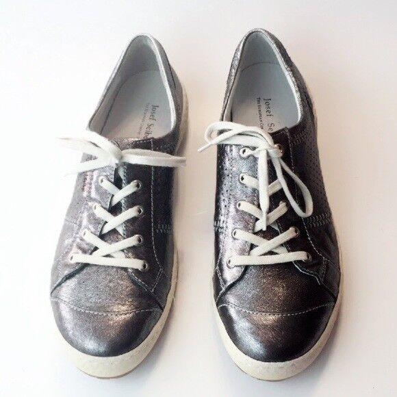 Josef Seibel Mujer Zapatos Zapatillas de cuero metálico Moda Comodidad 9