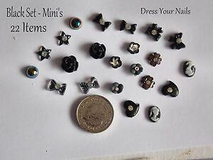 3d-Nail-Art-Set-BLACK-Craft-Card-Wedding-Bows-Flowers-Hearts-Pearls-BLK10