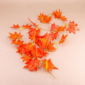 Autumn-Maple-Leaf-Garland-Decorative-Vine-Wedding-Decor-Garden-SET-OF-TWO