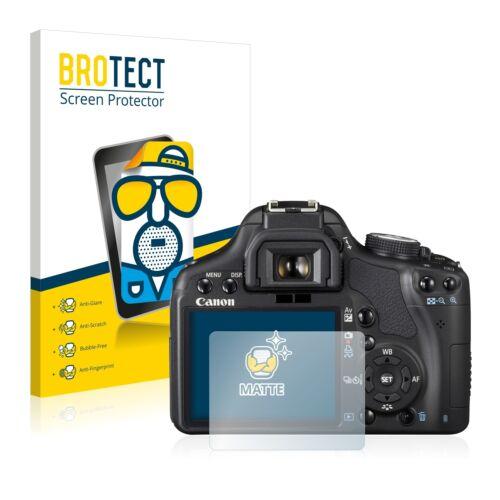 2x Canon EOS 500d láminas protectoras de pantalla mate antirreflejos