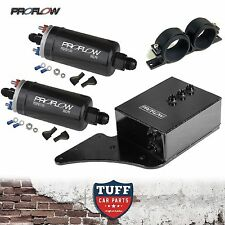 BA BF Ford Falcon XR6 Turbo 2 x Proflow 380LPH E85 Fuel Pump & Black Surge Tank