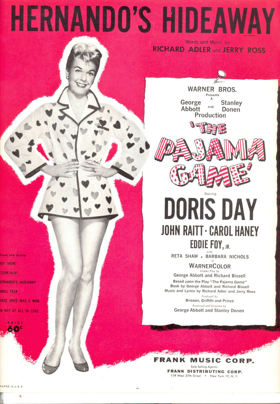 PAJAMA GAME Sheet Music  Hernando's Hideaway  Doris Day
