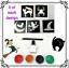 Kit-Para-Tatuar-40-Stencil-Halloween-Brillo-O-Recargas-Stencil-Brillo-Pegamento miniatura 28