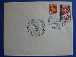 LOT-12866-TIMBRES-STAMP-ENVELOPPE-SPORT-FRANCE-ANNEE-1956