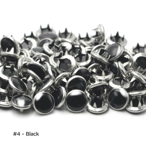50 sets Acrylic Pearl Snap Fasteners Prong Ring Snaps Press Studs Snap Button