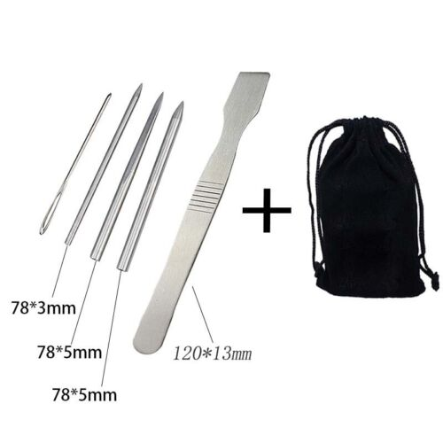With storage Bag Parachute Cord Needles Curved Flat Portable Stitching