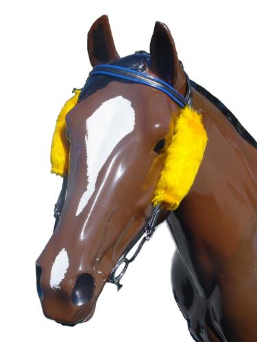 Fleecy Horse Racing Blinkers In Std Long /& Extra Long Sizes~Various Colours