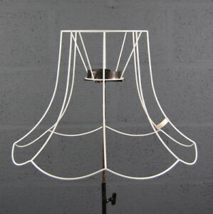 21 single scollop traditional victorian wire diy lampshade frame ebay image is loading 21 034 single scollop traditional victorian wire diy greentooth Image collections