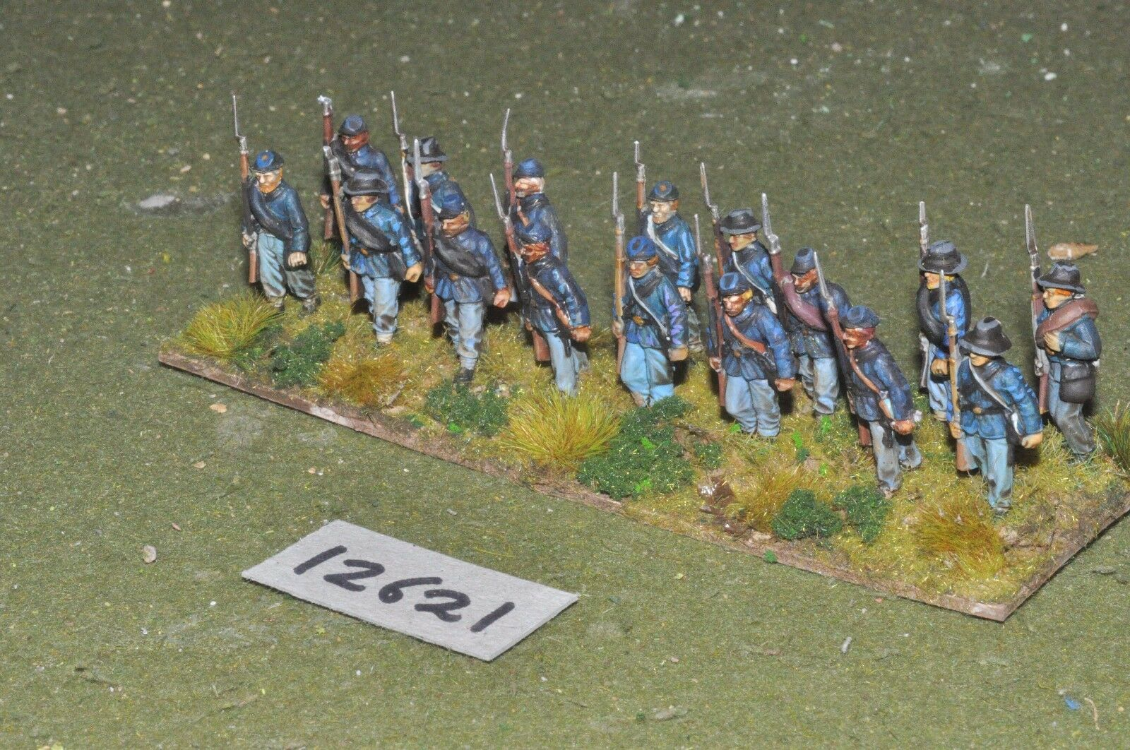 25mm ACW   union - american civil war infantry plastic 16 figs - inf (12621)
