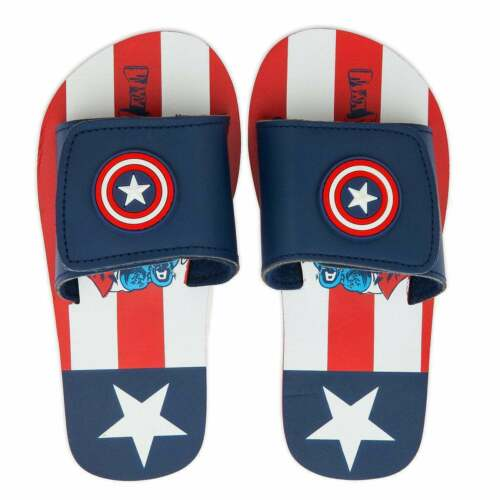 Disney Store Marvel Captain America Flip Flops Sandals Shoe Boy Size 9//10 11//12