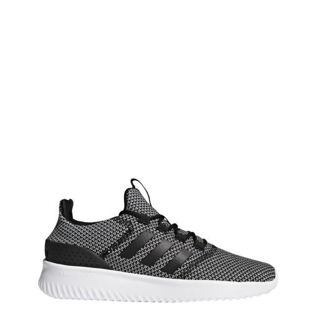 size 40 32bdc 10947 Mens Adidas NEO Cloudfoam Ultimate Black Sneaker Athletic Shoes CG5801 Sz  8.5-14