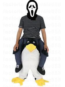 2019 Cute Penguin Mascot   Costume Halloween Ride On   Adult Fancy ... 19b9a349712