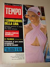 TEMPO=1971/34=VIRNA LISI COPERTINA RIVISTA COVER MAGAZINE=FLAMINIO PICCOLI=