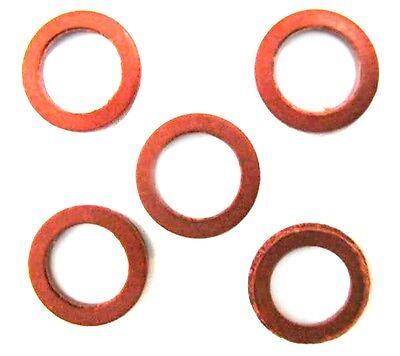 5 Dichtungen Vulkanfiberringe rot für Druckminderer Co2