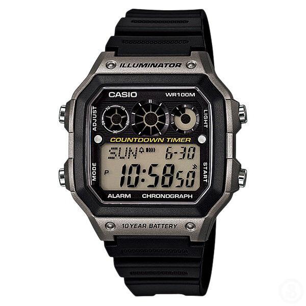 CASIO World Time Illuminator Chronograph Digital Classic Watch AE-1300WH-8A
