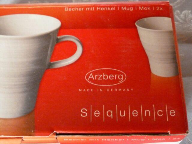 Arzberg Move Sequence 2er Set Kaffeebecher, Henkel- mit Henkel 0,33 L