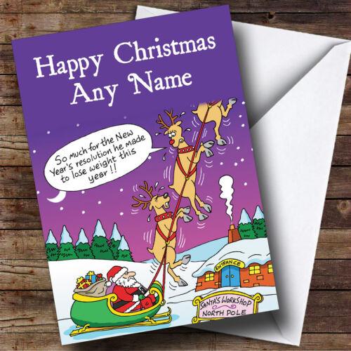 Drôle blague Renne Noël Carte de vœux personnalisée