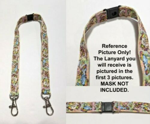 """Details about  /Juicy Lemons 5//8/"""" Wide Double Sided Mask Lanyard or Mask Strap w// 2 Clips"""