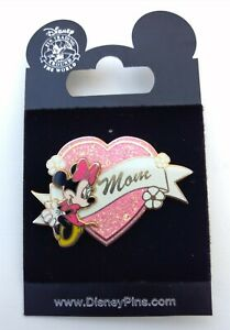 Disney-Minnie-Mouse-Pink-Sparkle-Heart-Mom-3D-Pin-2006