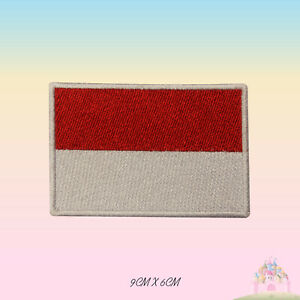 Monaco National Flag Embroidered Iron On Patch Sew On Badge Applique