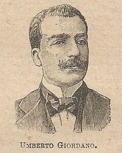 A0080-Umberto-Giordano-Stampa-Antica-del-1907-Xilografia