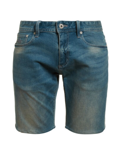 NUOVA linea uomo Superdry pantaloncini di jeans SLIM Ocean Blue Usato