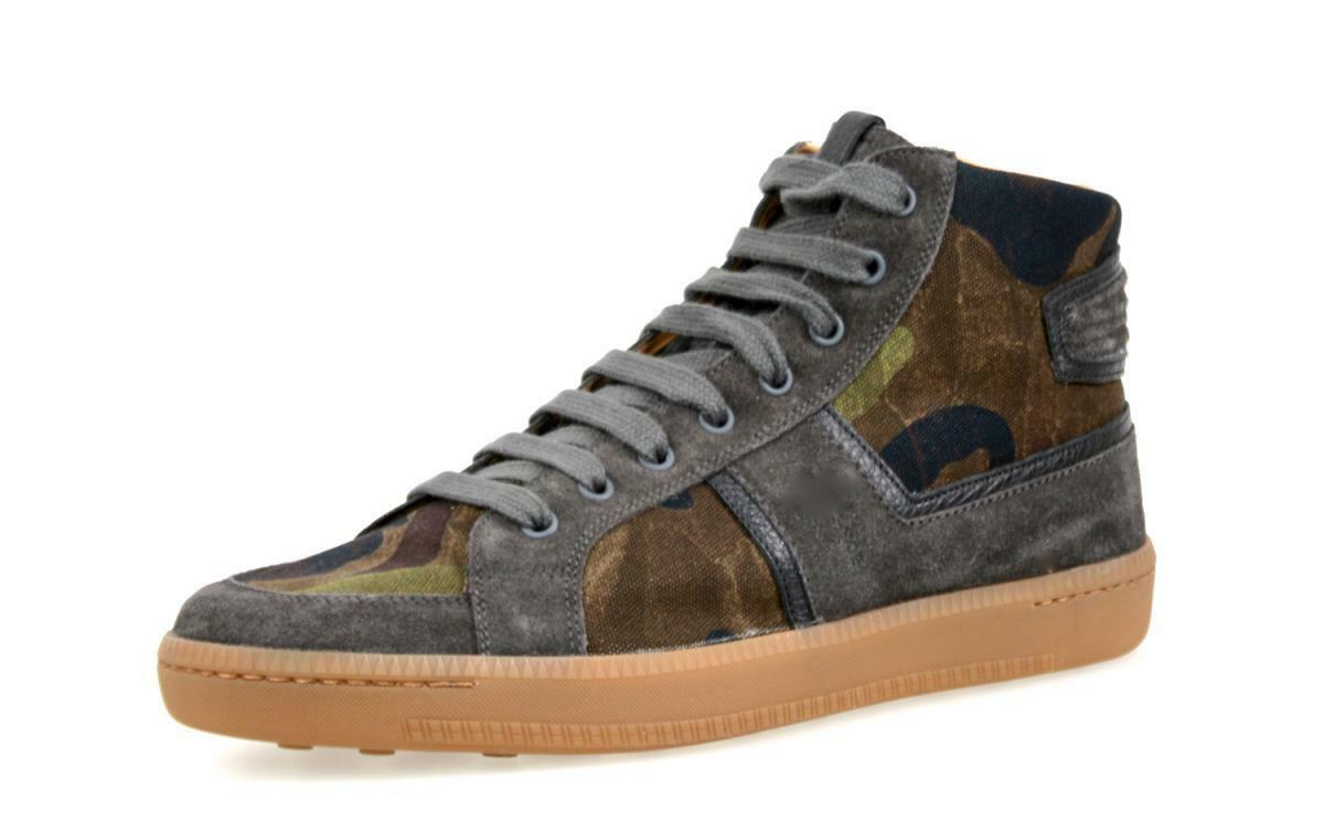 Lujo car zapatos By Prada High Top cortos zapatos camuflaje kut71 8,5 42,5 43