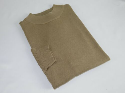 Mens Inserch Mock Neck Pullover Knit Soft Cotton Blend Sweater Winter 4308 Taupe