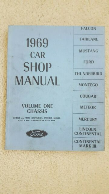 1969 Ford Car Shop Manual