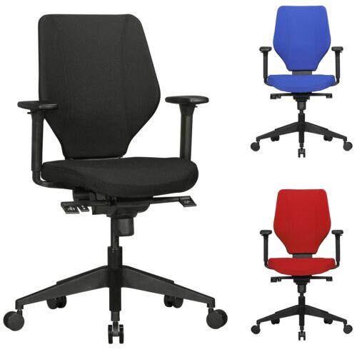 FineBuy Bürostuhl Stoff Rot Schreibtischstuhl Drehstuhl Drehsessel Büro 120 kg