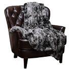 Luxury Holidays Gift Throw Blanket 50x65 Super Soft Fuzzy Fur Faux Fluffy Cozy