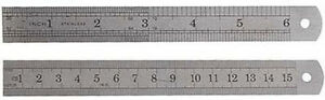 New-2-X-Stainless-Steel-Ruler-etched-on-Standard-metric-rule-US-FREE-SHIPPING