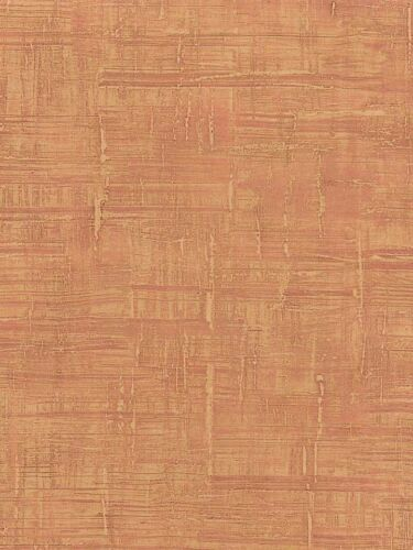 Wallpaper Modern Orange Rust Watercolor Bark Faux