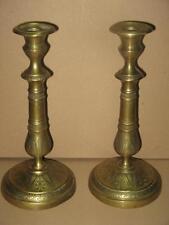 Paire De Chandeliers En Bronze, 19ème, Empire.