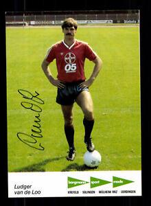 Ludger Van De Loo Autogrammkarte Bayer Uerdingen 1984-85 Original Signi+a 133837 Dauerhafter Service Fußball, National