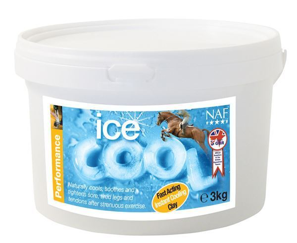 NAF Ice Cool 3kg - Cooling Clay Tired Legs Horses Pony  Witch Hazel