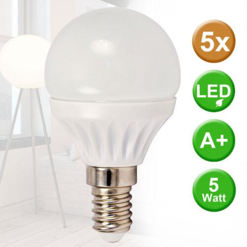 5er Set 5 Watt LED Strahler warmweiß Lampe E14 Leuchtmittel 400 lumen Birne