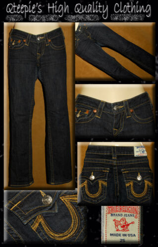 Lowrise Denim Gold Pocket Dark U Religion 25 Straight Jeans Blue Sz Leg True 6aw4Bnx6q