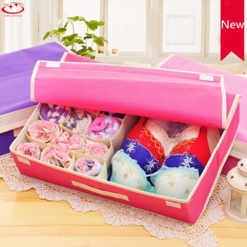 Foldable Underwear Bra Socks Ties Divider Closet Container Storage Box Organizer