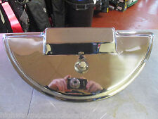 VESPA PX125 PX 125 STAINLESS STEEL POLISHED SPARE WHEEL COVER EB8
